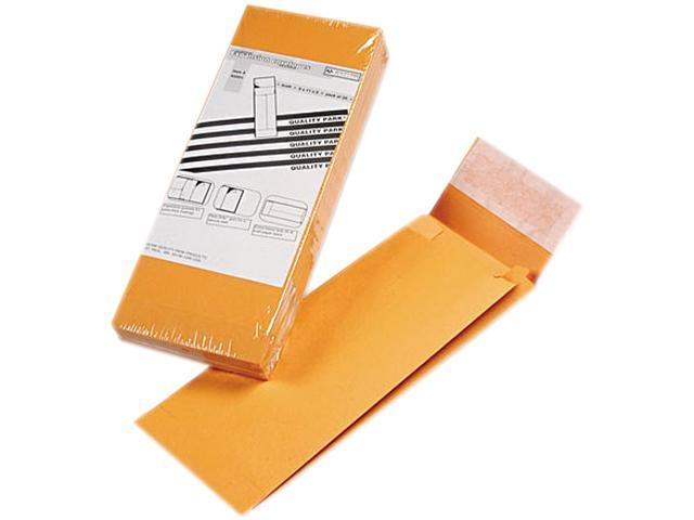 Quality Park 93331 Redi-Strip Kraft Expansion Envelope, Side Seam, 5 x 11 x 2, Brown, 25/Pack