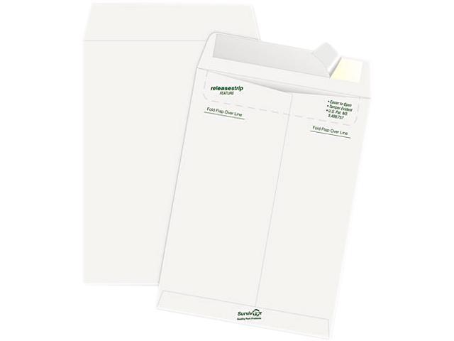 SURVIVOR R1462 Tyvek Mailer, Side Seam, 9 x 12, White, 50/Box