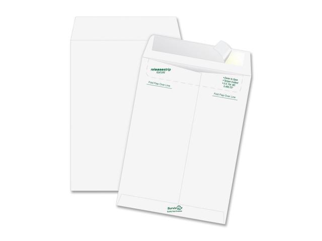 SURVIVOR R1580 Tyvek Mailer, Side Seam, 10 x 13, White, 100/Box