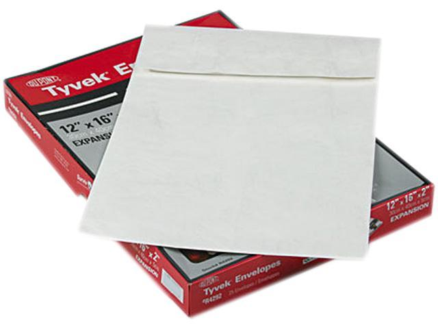 SURVIVOR R4292 Tyvek Expansion Mailer, 12 x 16 x 2, White, 25/Box