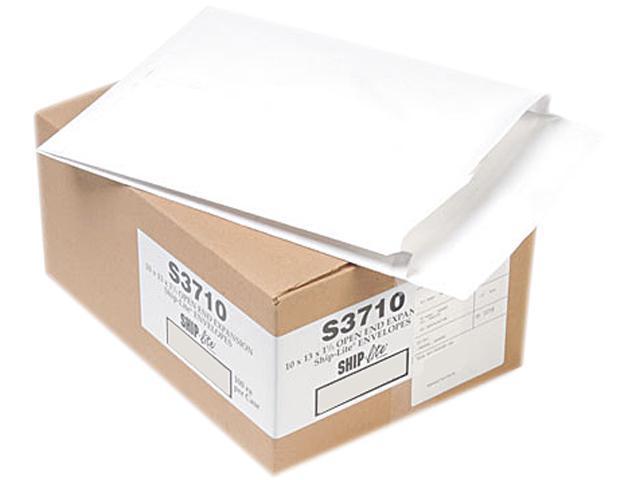 Quality Park S3710 Ship-Lite Redi-Flap Expansion Mailer, 10 x 13 x 1 1/2, White, 100/Box