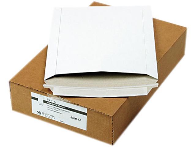 Quality Park 64014 Photo/Document Mailer, Redi-Strip, Side Seam, 9 x 11 1/2, White, 25/Box