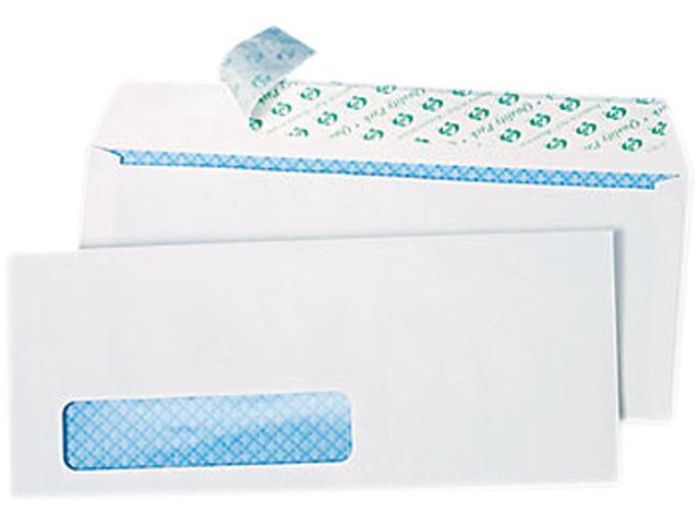 Quality Park 69222 Redi-Strip Security Tinted Window Envelope, Contemporary, #10, White, 500/Box, 1 Box