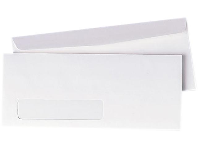 Quality Park 90120 Business Window Envelope, Contemporary, #10, White, 500/Box