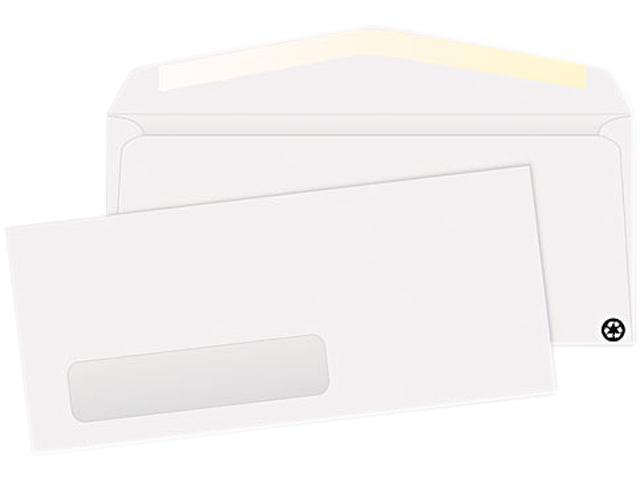 Quality Park 21316 Business Window Envelope, Contemporary, #10, White, Recycled, 500/Box