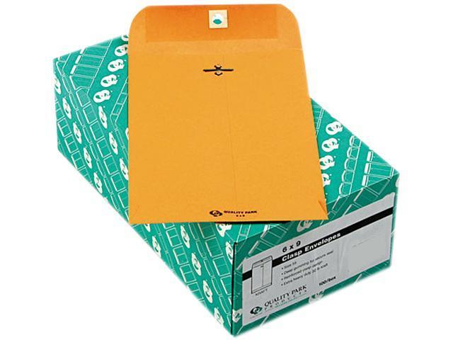 Quality Park 37755 Clasp Envelope, 6 x 9, 32lb, Light Brown, 100/Box