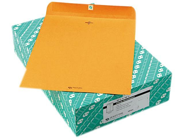 Quality Park 37805 Clasp Envelope, 11 1/2 x 14 1/2, 32lb, Light Brown, 100/Box