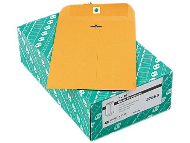 Quality Park 37868 Clasp Envelope, 7 x 10, 28lb, Light Brown, 100/Box