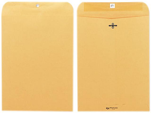 Quality Park 37890 Clasp Envelope, 9 x 12, 28lb, Light Brown, 100/Box