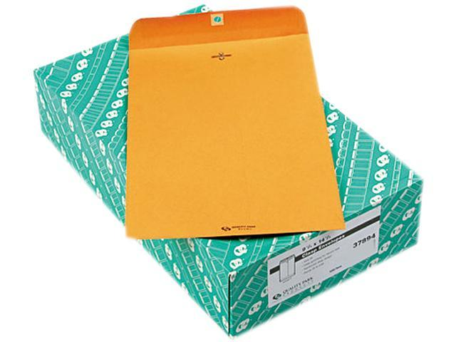 Quality Park 37894 Clasp Envelope, 9 1/4 x 14 1/2, 28lb, Light Brown, 100/Box