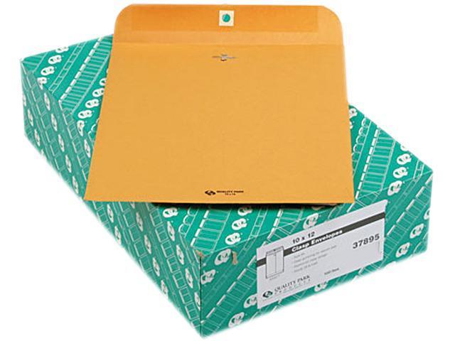 Quality Park 37895 Clasp Envelope, 10 x 12, 28lb, Light Brown, 100/Box