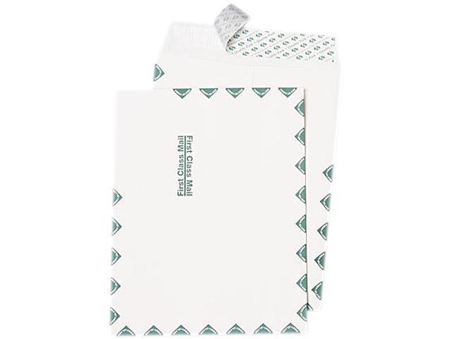 Quality Park 44786 Redi Strip Catalog Envelope, First Class, 10 x 13, White, 100/Box