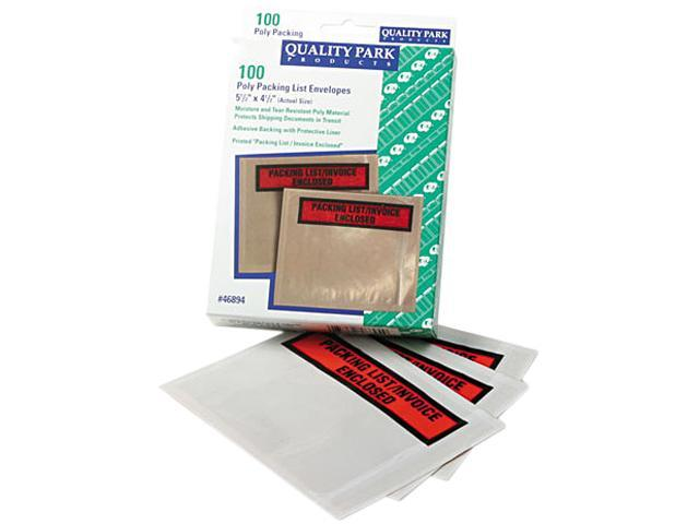 Quality Park 46894 Top-Print Self-Adhesive Packing List Envelope, 5 1/2