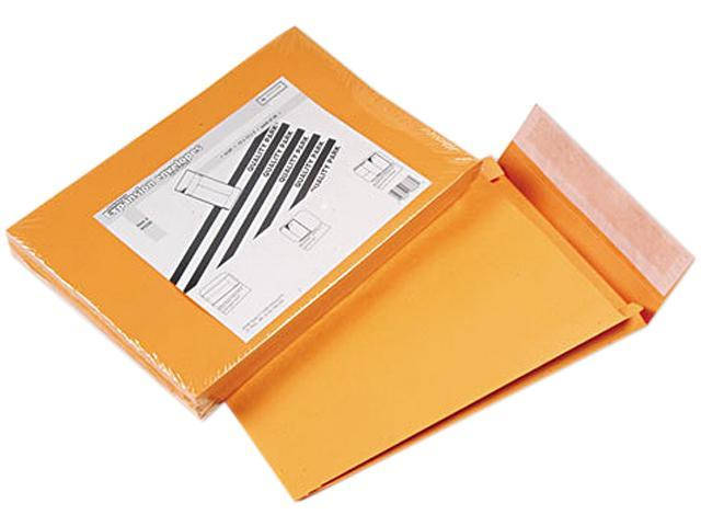 Quality Park 93336 Redi-Strip Kraft Expansion Envelope, Side Seam, 10 x 13 x 2, Brown, 25/Pack