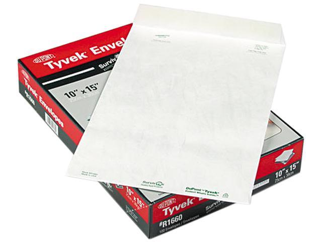 SURVIVOR R1660 Tyvek Mailer, Side Seam, 10 x 15, White, 100/Box