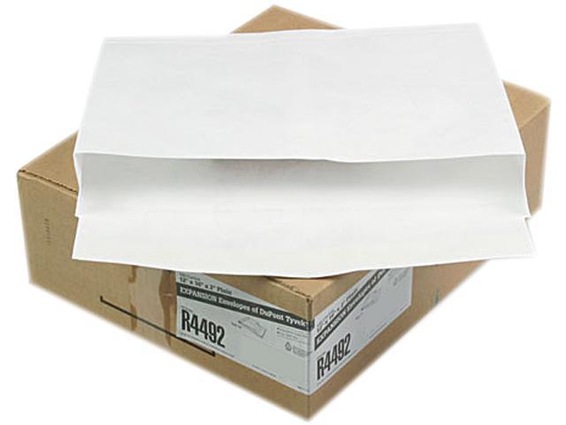 Quality Park R4492 Tyvek Booklet Expansion Mailer, 12 x 16 x 2, White, 18lb, 100/Carton