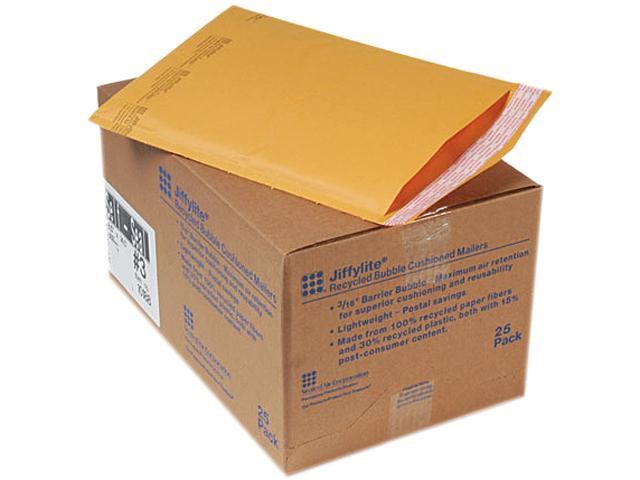 Sealed Air 10188 Jiffylite Self-Seal Mailer, #3, 8 1/2 x 14 1/2, Golden Brown, 25/Carton