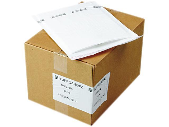 Sealed Air 37713 Jiffy TuffGard Self-Seal Cushioned Mailer, #2, 8 1/2 x 12, White, 25/Carton