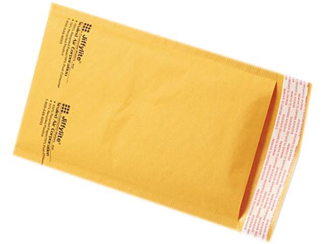 Sealed Air 39091 Jiffylite Self-Seal Mailer, Side Seam, #00, 5 x 10, Golden Brown, 250/Carton