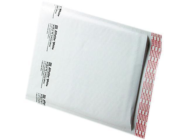 Sealed Air 39258 Jiffylite Self-Seal Mailer, Side Seam, #2, 8 1/2 x 12, White, 100/Carton
