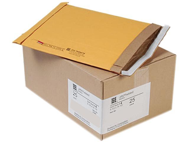 Sealed Air 21488 Jiffy Padded Self-Seal Mailer, #4, 9 1/2 x 14 1/2, Golden Brown, 25/Carton