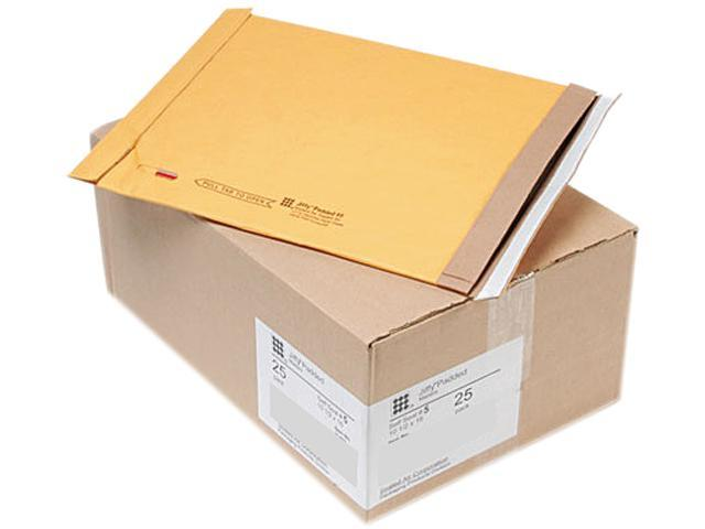 Sealed Air 21489 Jiffy Padded Self-Seal Mailer, Side Seam, #5, 10 1/2x16, Golden Brown,25/Carton