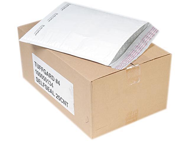 Sealed Air 49675 Jiffy TuffGard Self-Seal Cushioned Mailer, #4, 9 1/2 x 14 1/2, White, 25/Carton