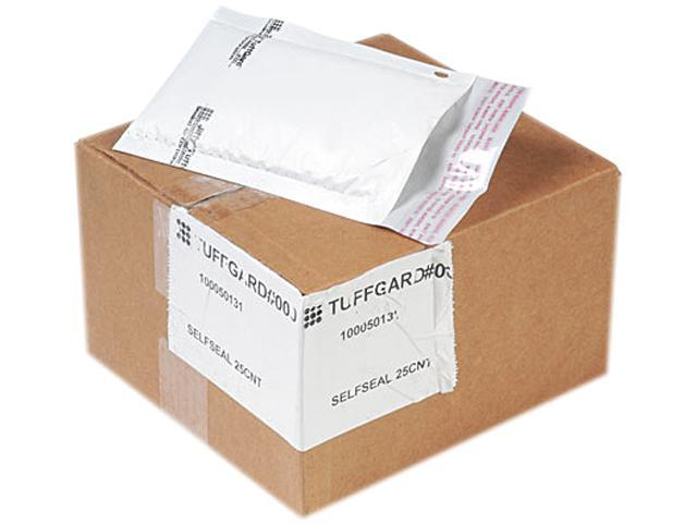 Sealed Air 49678 Jiffy TuffGard Self-Seal Cushioned Mailer, Side Seam, #000, 4x8, WE, 25/Carton