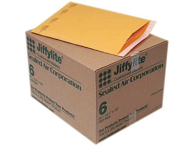 Sealed Air 39097 Jiffylite Self-Seal Mailer, Side Seam, #6, 12 1/2 x 19, Golden Brown, 50/Carton