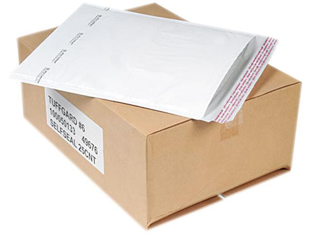 Sealed Air 49676 Jiffy TuffGard Self-Seal Cushioned Mailer, #6, 12 1/2 x 19, White, 25/Carton