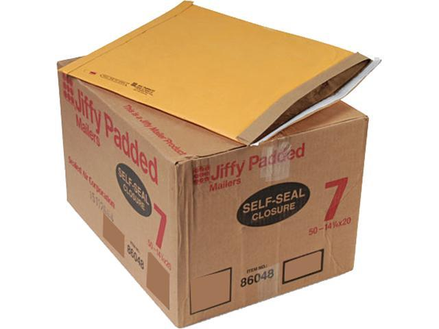 Sealed Air 86048 Jiffy Padded Self-Seal Mailer, #7, 14 1/4 x 20, Golden Brown, 50/Carton
