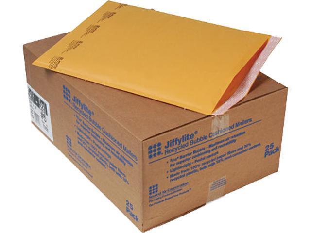 Sealed Air 10191 Jiffylite Self-Seal Mailer, Side Seam, #6, 12 1/2 x 19, Golden Brown, 25/Carton