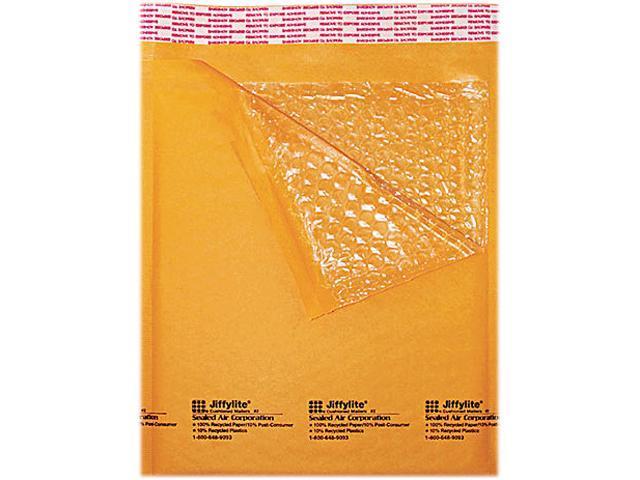 Sealed Air 16202 Jiffylite Self-Seal Mailer, Side Seam, #5, 10 1/2 x 16, Golden Brown, 10/Pack