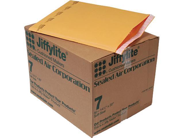 Sealed Air 39098 Jiffylite Self-Seal Mailer, Side Seam, #7, 14 1/4 x 20, Golden Brown, 50/Carton