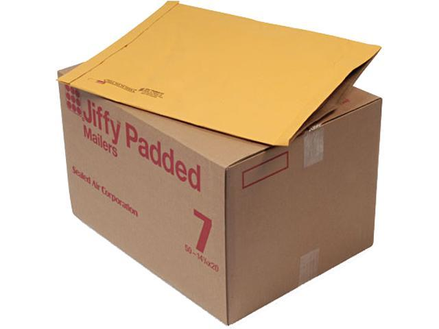 Sealed Air 49284 Jiffy Padded Mailer, Side Seam, #7, 14 1/4 x 20, Golden Brown, 50/Carton