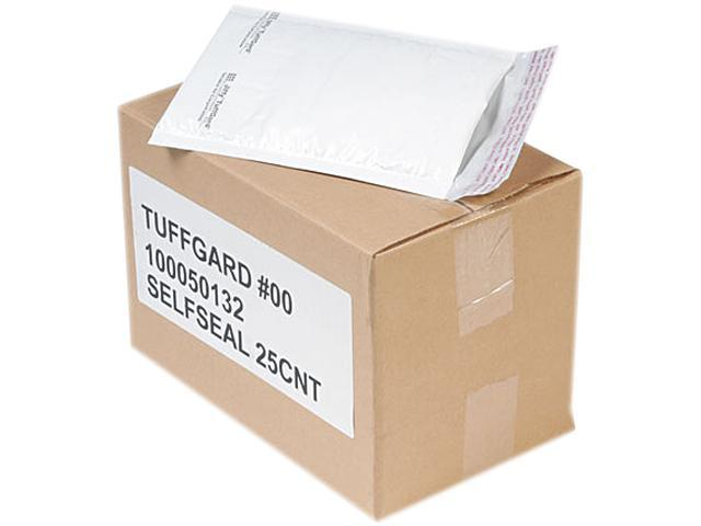 Sealed Air 49677 Jiffy TuffGard Self-Seal Cushioned Mailer, Side Seam, #00, 5x10, WE, 25/Carton