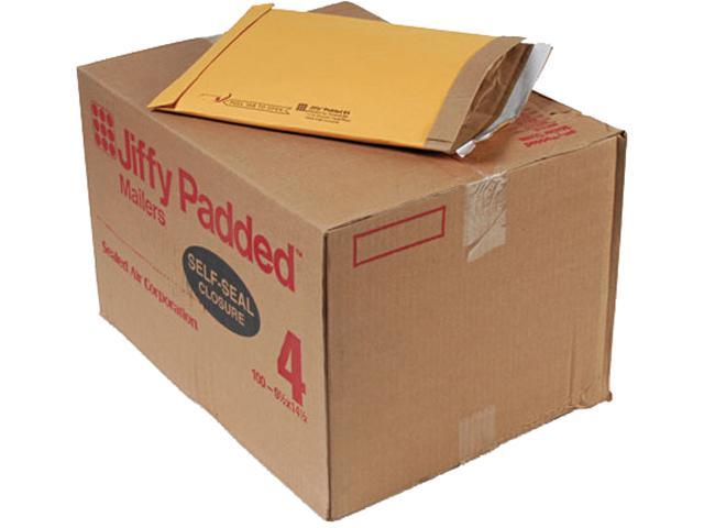 Sealed Air 85985 Jiffy Padded Self-Seal Mailer, #4, 9 1/2 x 14 1/2, Golden Brown, 100/Carton