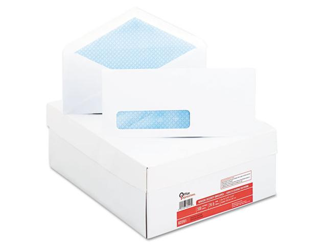 Office Impressions Security Tint Window Envelopes, #10, White, 500/Box