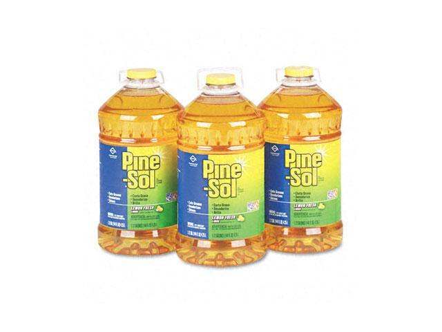 Clorox 35419CT Pine-Sol All-Purpose Cleaner, Lemon Scent, 144 oz. Bottle, 3/Carton
