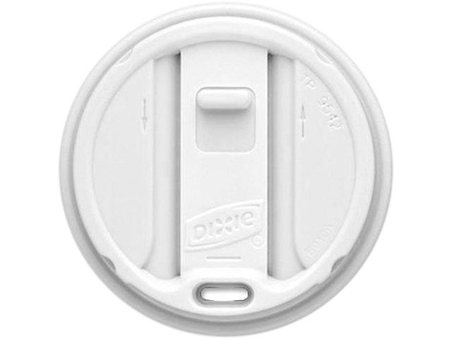 Dixie TP9542 Smart Top Reclosable Hot Cup Lid Round - Plastic - 100 / Pack - White