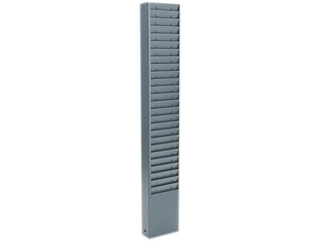 Buddy Products 800-1 Fixed-Size 25-Pocket Time Card Rack, Seven Inch Pocket, Textured Steel, Gray