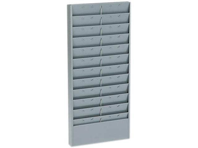 Buddy Products 801-1 Adjustable 11- Or 22-Pocket Time Card Rack, Textured Steel, Gray