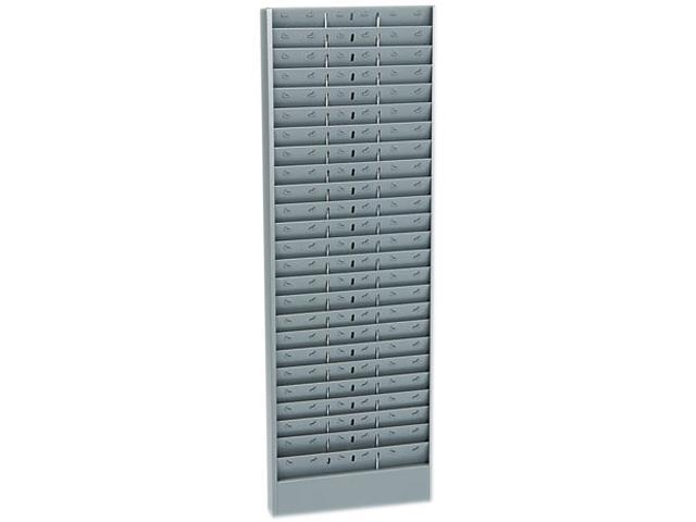 Buddy Products 805-1 Adjustable 24-, 48- Or 72-Pocket Time Card Rack, Textured Steel, Gray