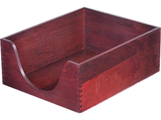 Carver 08213 Hardwood Letter Stackable Desk Tray, Mahogany