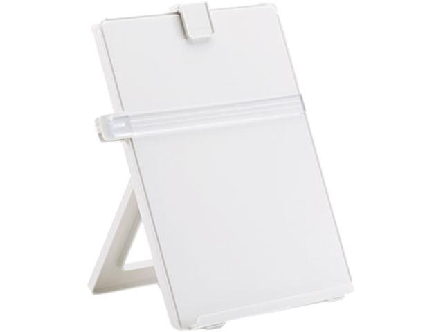 Fellowes 21103 Non-Magnetic Letter-Size Desktop Copyholder, Plastic, Platinum