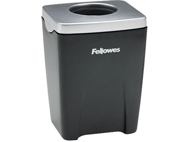 Fellowes 8032801 Office Suites Paper Clip Cup, Plastic, 2 1/2 x 2 1/4 x 3 1/4, Black/Silver