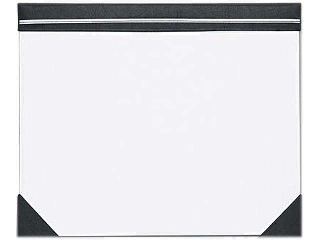 House of Doolittle 450-02 Executive Doodle Desk Pad, 25-Sheet White Pad, Refillable, 22 x 17, Black/Silver