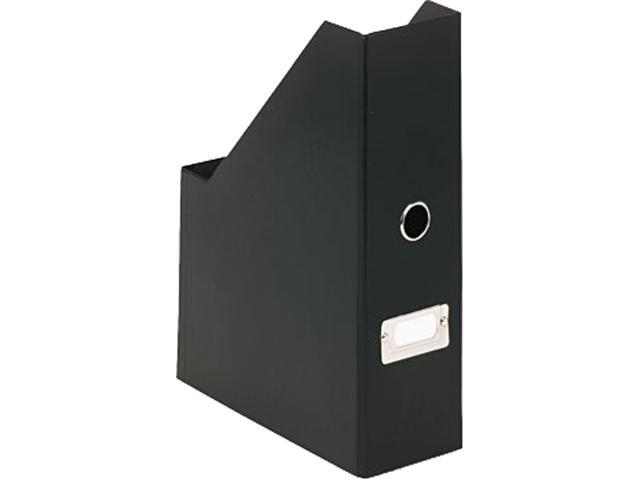 Snap-N-Store SNS01565 Heavy-Duty Fiberboard Magazine File with PVC Laminate, 3 1/2 x 9 1/4 x 14, Black