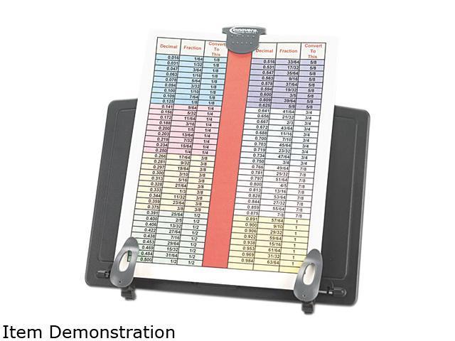 Innovera 59000 Book Stand Freestanding Desktop Copyholder, Plastic, Black/Dark Gray