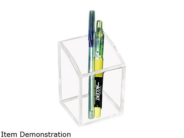 Kantek AD-20 Acrylic Pencil Cup, 2 3/4 x 2 3/4 x 4, Clear
